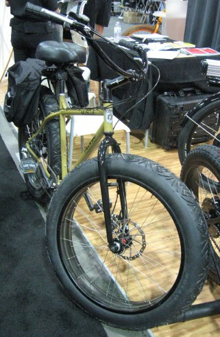 Fat-tire electric bike, with distinct motorcycle tendencies.