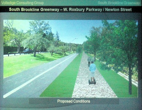 Proposed treatment for West Roxbury Parkway