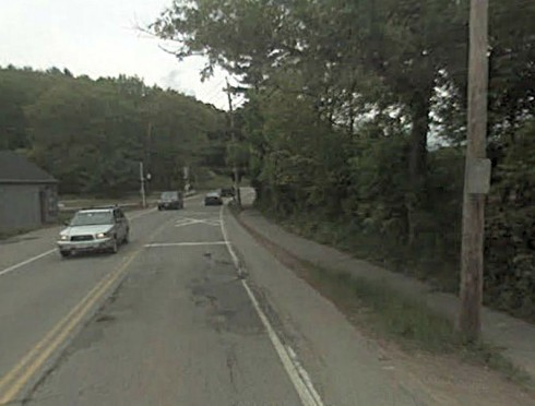 Route 117 and Fitchburg Rail line, ca. 2008, Google Street View