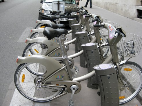 Vélib bicycles, Paris, France