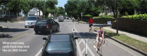 Another Photoshopped illustration of the proposed bikeway