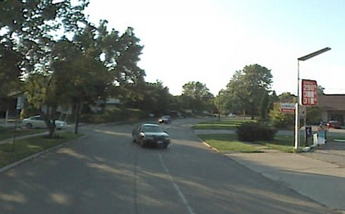 Google Street view of Tamarack Circle before restriping