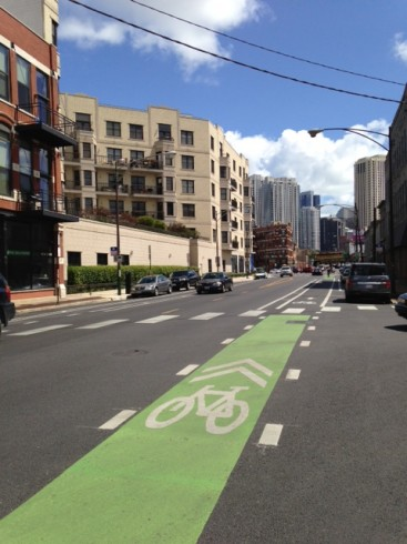 "Forbes thinks this is a ""protected bike lane"". It is a buffered bike lane."