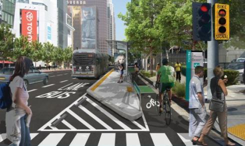 Figueroa bikeway official rendering
