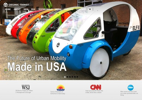 Elf microcars, from Organic Transit Web site
