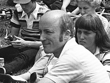 Jim Melcher at a Boston Area bicycle Coalition rally on Boston Common, 1979. Photo by Anita Brewer-Siljeholm